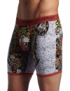 Ed Hardy Men's Tiger Collage Premium Boxer Brief - Fire