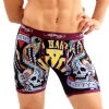 Ed Hardy Men's Tough Yankee Premium Boxer Brief - Burgundy