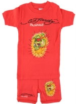 Ed Hardy Pajama Set for Toddlers - Red