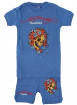 Ed Hardy Pajama Set for Toddlers - Blue