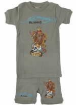 Ed Hardy Pajama Set for Toddlers - Dark Grey