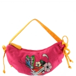 Ed Hardy Girls Iris Crescent Shoulder Bag- Pink