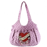 Ed Hardy Girls Odette Ruffle Tote- Purple
