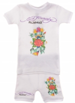Ed Hardy Pajama Set for Toddlers - White