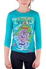 Ed Hardy Kids Girls T-Shirt - Teal