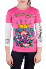 Ed Hardy Kids Girls T-Shirt - Pink