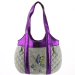 Ed Hardy Girls Allison Quilted Tote- Grey