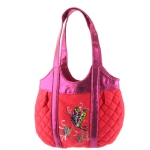 Ed Hardy Girls Allison Quilted Tote- Orange