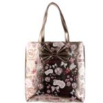 Ed Hardy Girls Anya Tote Bag- Silver