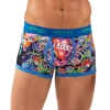 Ed Hardy Love Kills Slowly Neon Trunk Brief - Blue