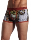 Ed Hardy Men's Tiger Collage Premium Trunk - Fire