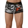 Ed Hardy Men's Fierce Tiger Collage Trunk - Black