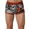 Ed Hardy Men's Fierce Tiger Collage Trunk - Red