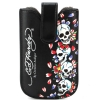 Ed Hardy Universal Tiki Skulls Sleeve With Snap Case