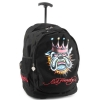 Ed Hardy Brad BulldogTrolley Backpack- Black
