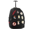 Ed Hardy Brad Patches Trolley Backpack- Black