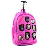 Ed Hardy Brad Patches Trolley Backpack- Purple