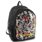 Ed Hardy Bruce All Over Collage Backpack - Black