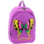 Ed Hardy Misha Butterfly Backpack- Purple