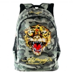 Ed Hardy Bruce Tiger Backpack- Grey Camo
