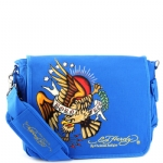 Ed Hardy Leo Eagle Messenger Bag - Royal Blue