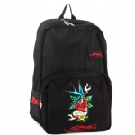 Ed Hardy Scarlet Mesh Birdflower Backpack - Black