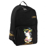 Ed Hardy Scarlet Mesh Geisha Backpack - Black