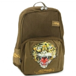 Ed Hardy Scarlet Mesh Tiger Backpack - Brown