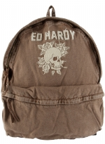 Ed Hardy Bradley Backpack-Brown
