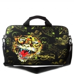 Ed Hardy Gates Tiger Laptop Bag -  Black