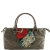 Ed Hardy Lucy Rose Small Tote- Pewter