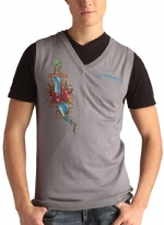 Ed Hardy Mens Snake Eagle V-Neck Vest Sweater - Chrome