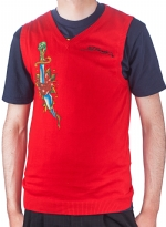 Ed Hardy Mens Snake Eagle V-Neck Vest Sweater - Red