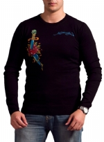 Ed Hardy Mens Snake Eagle Sweater - Black