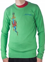 Ed Hardy Mens Snake Eagle Sweater - Mint