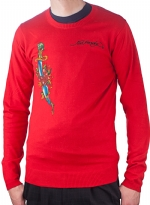 Ed Hardy Mens Snake Eagle Sweater - Red