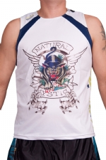 Ed Hardy Mens Mystic Panther Sport Tank Top - White