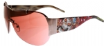 Ed Hardy EHS-003 Japan Sunglasses - Gun/Burgundy