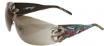 Ed Hardy EHS-005 Snake 2 Sunglasses - Black/Gray