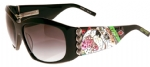 Ed Hardy EHS-006 Love Dog Sunglasses - Black/Gray