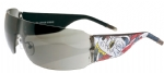 Ed Hardy EHS-010 Wolf Sunglasses - Black/Gray