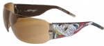 Ed Hardy EHS-010 Wolf Sunglasses - Tortoise/Brown