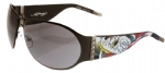 Ed Hardy EHS-011 Battle Sunglasses - Black/Gray