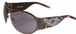 Ed Hardy EHS-011 Battle Sunglasses - Gun/Gray