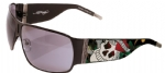 Ed Hardy EHS-012 Love Kills Slowly Sunglasses - Black/Gray