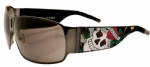 Ed Hardy EHS-012 Love Kills Slowly Sunglasses - Gun/Gray