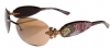 Ed Hardy EHS-014 Three Old School Roses Sunglasses - Cocoa/Brown