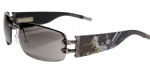 Ed Hardy EHS-016 Love Boy Sunglasses - Gun/Gray