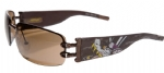 Ed Hardy EHS-016 Love Boy Sunglasses - Latte/Brown