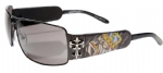 Ed Hardy EHS-017 King of Beasts Dog Sunglasses - Black/Gray